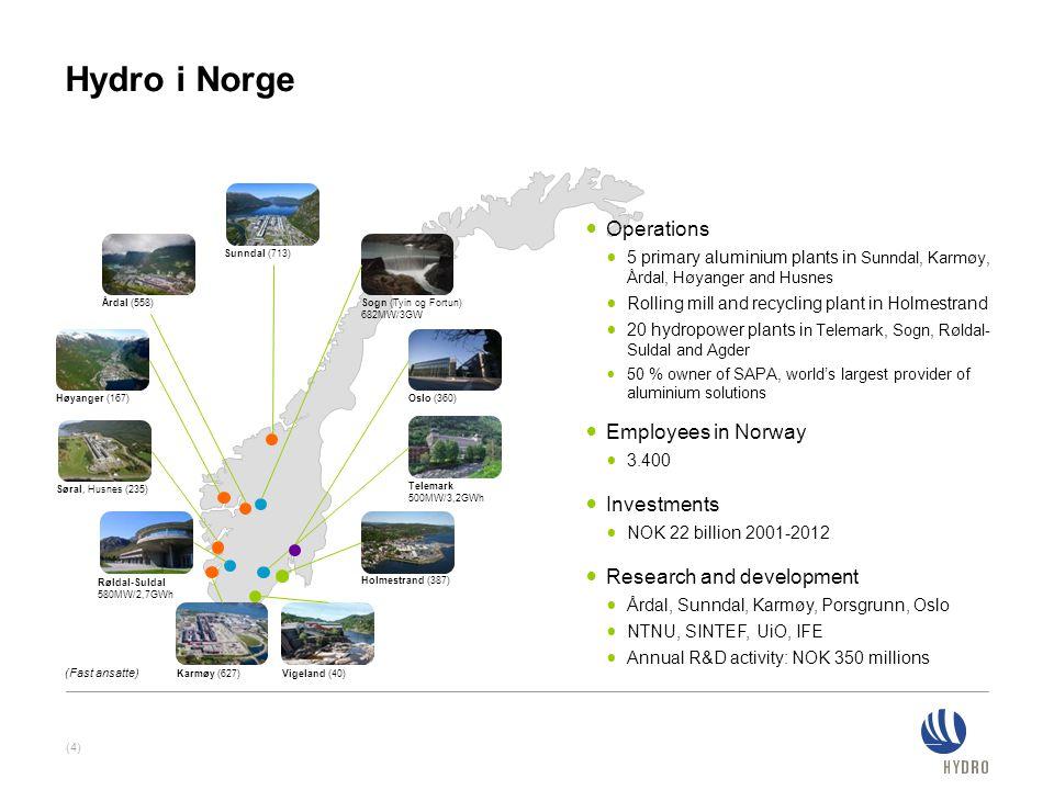 (4) Høyanger (167) Søral, Husnes (235) Røldal-Suldal 580MW/2,7GWh Telemark 500MW/3,2GWh Karmøy (627)Vigeland (40) Holmestrand (387) Oslo (360) Årdal (