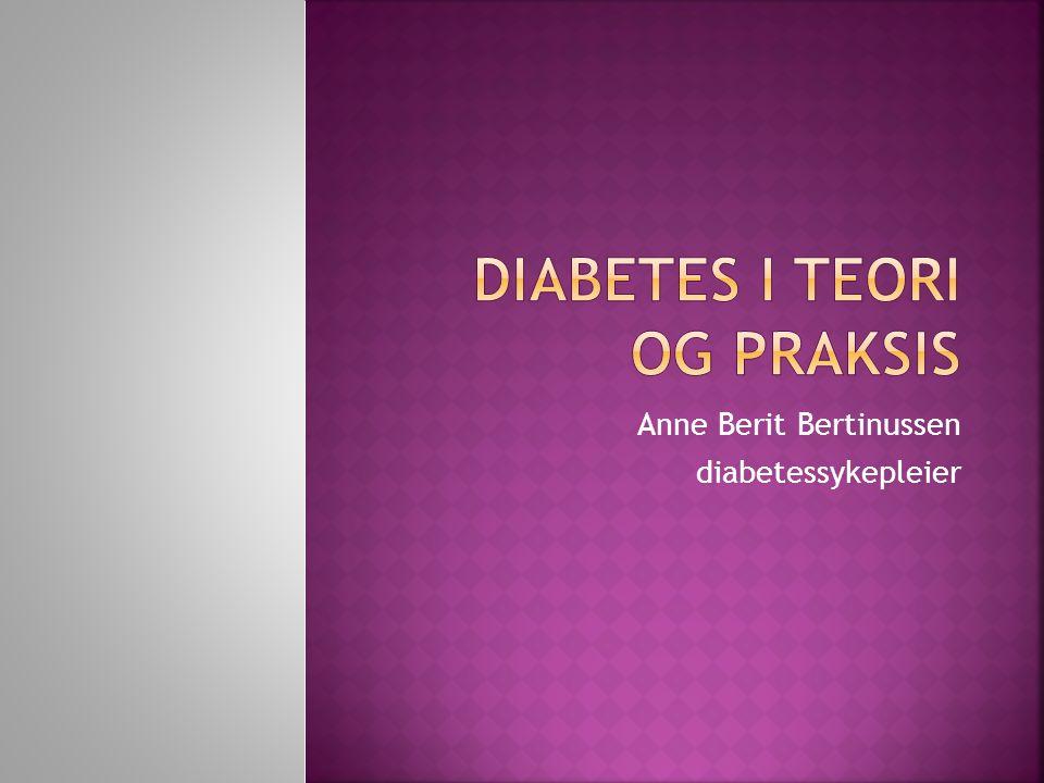 Anne Berit Bertinussen diabetessykepleier