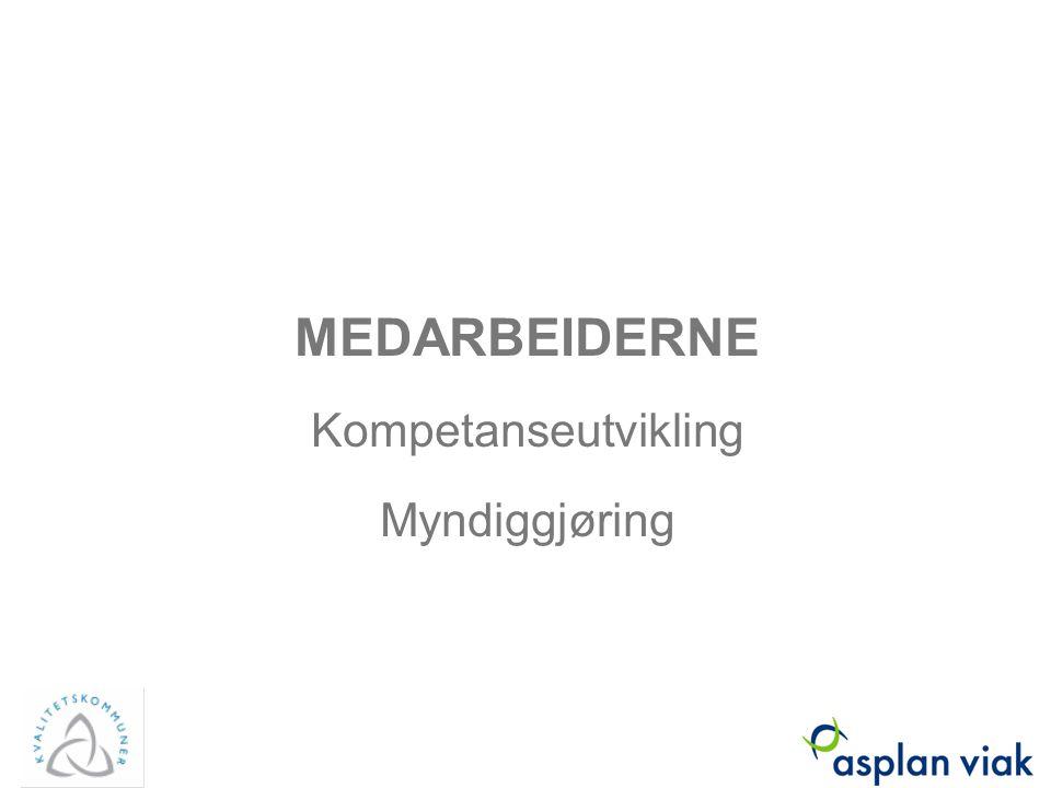 MEDARBEIDERNE Kompetanseutvikling Myndiggjøring Asplan Viak