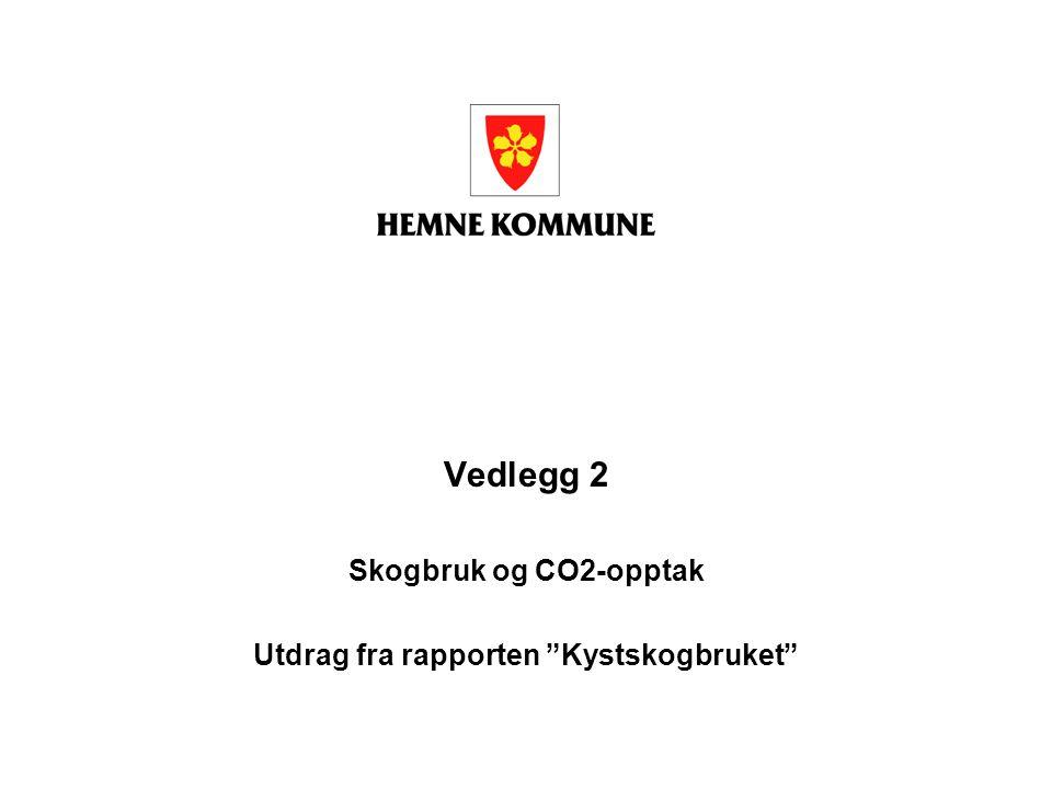 """Vedlegg 2 Skogbruk og CO2-opptak Utdrag fra rapporten """"Kystskogbruket"""""""
