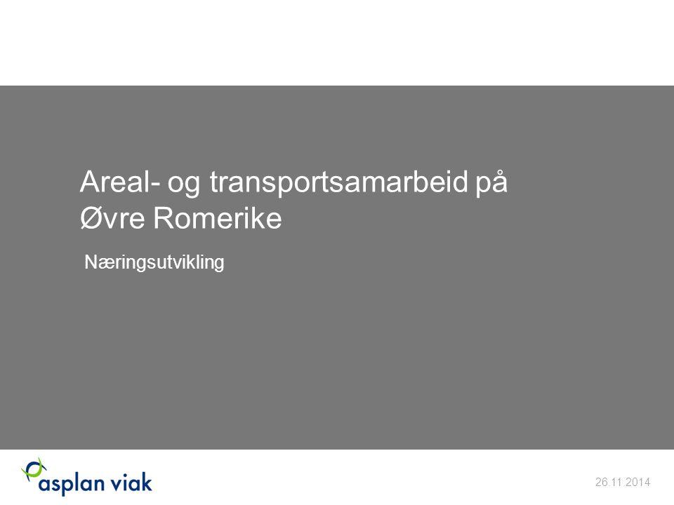 Areal- og transportsamarbeid på Øvre Romerike Næringsutvikling 26.11.2014