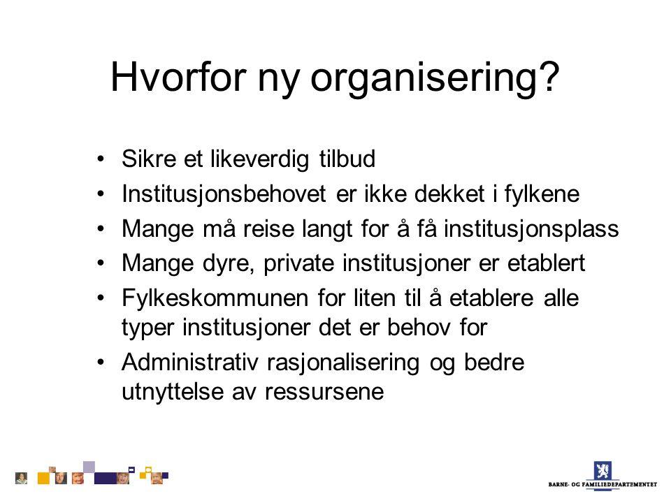 Hvorfor ny organisering.