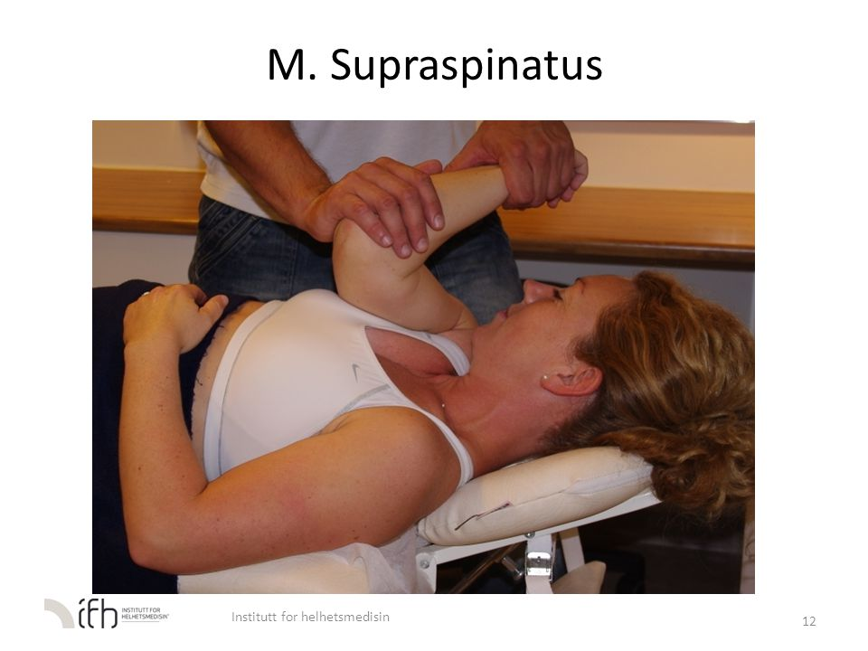 M. Supraspinatus 12 Institutt for helhetsmedisin