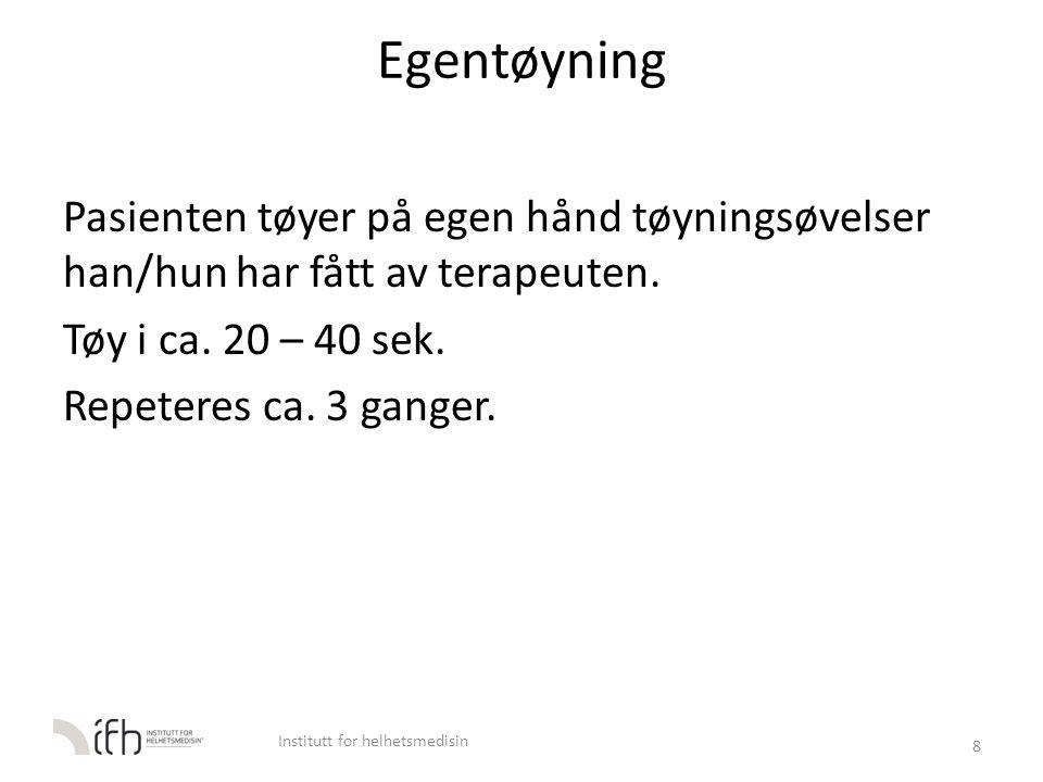 Egentøy M. Iliopsoas 59 Institutt for helhetsmedisin