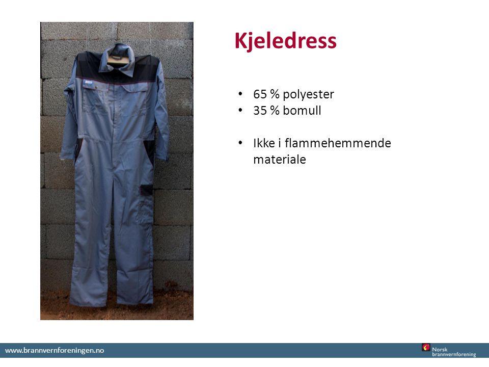 www.brannvernforeningen.no Kjeledress 65 % polyester 35 % bomull Ikke i flammehemmende materiale