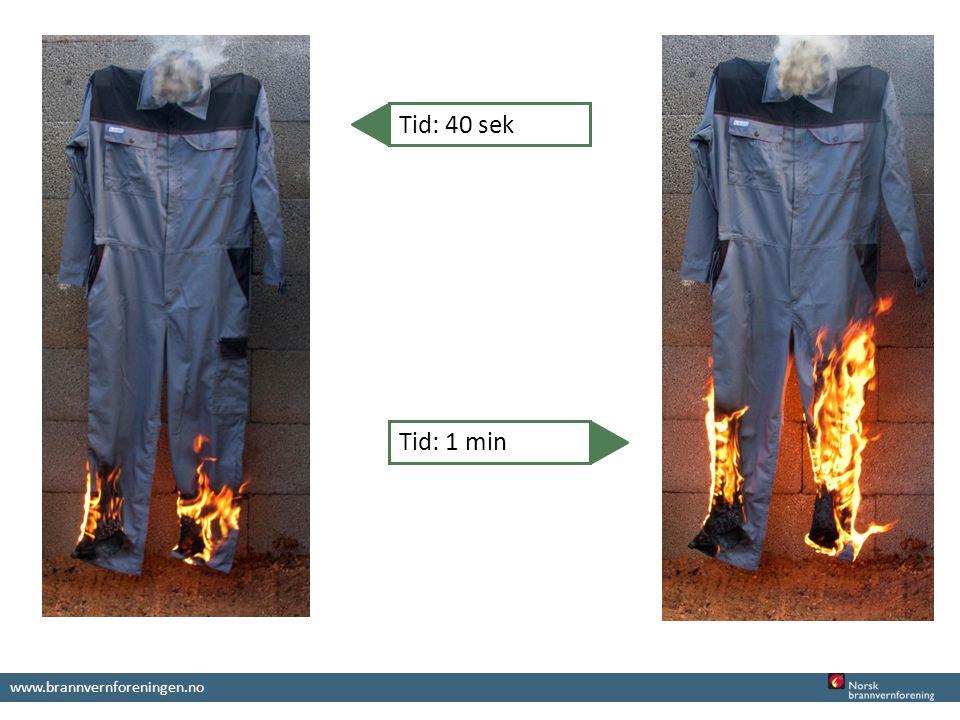 www.brannvernforeningen.no Tid: 40 sek Tid: 1 min