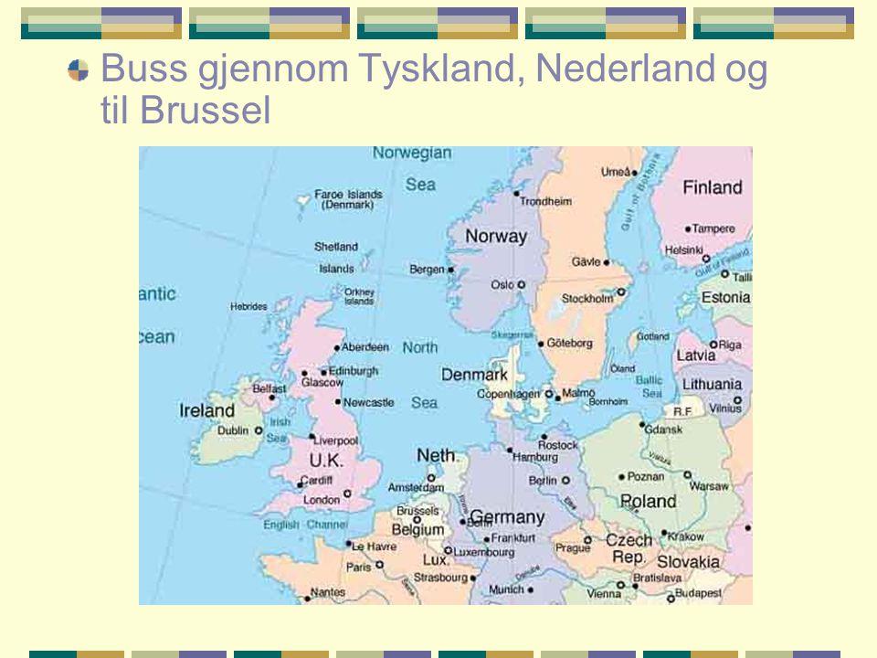 Buss gjennom Tyskland, Nederland og til Brussel