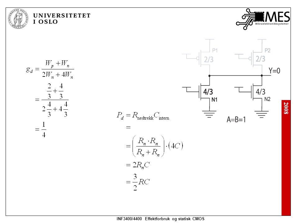 2008 INF3400/4400 Effektforbruk og statisk CMOS Source følger opptrekkslogikk