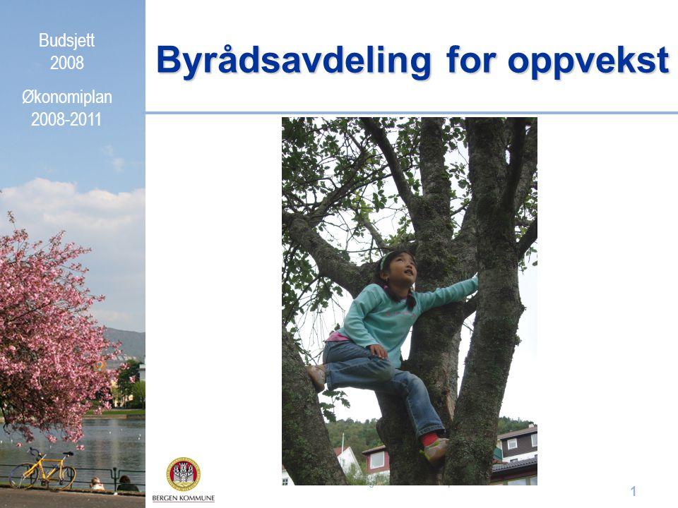 Budsjett 2008 Økonomiplan 2008-2011 Orientering for KOPP 27. september 2007 1 Byrådsavdeling for oppvekst