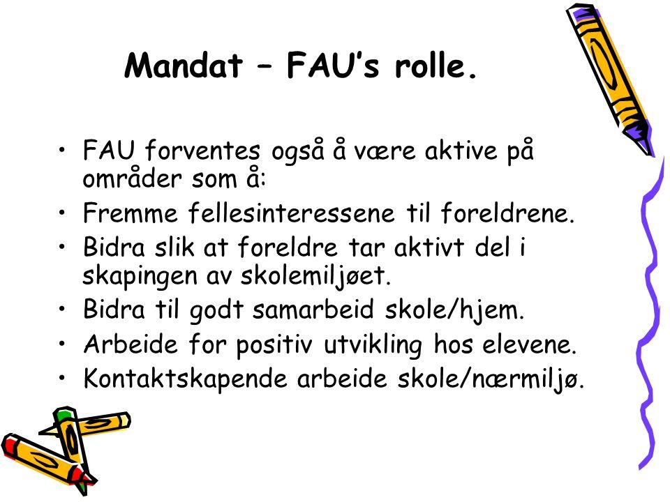 Mandat – FAU's rolle.
