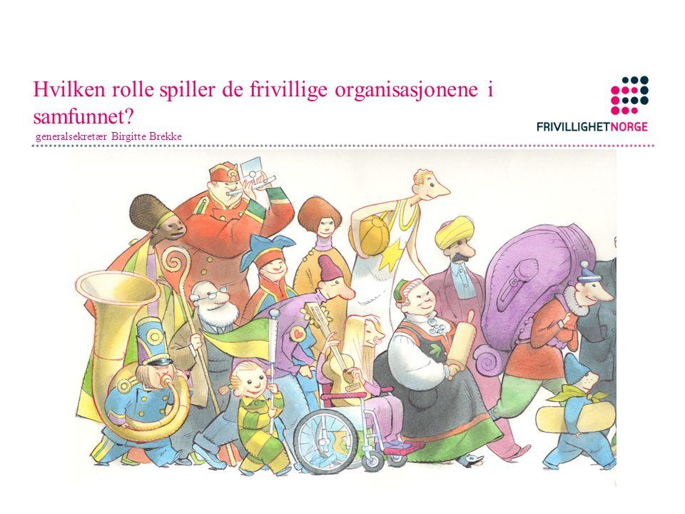 Hvilken rolle spiller de frivillige organisasjonene i samfunnet? generalsekretær Birgitte Brekke