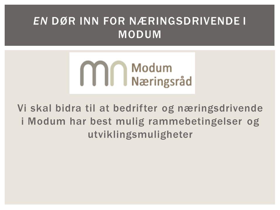  en medlemsbasert og medlemsstyrt organisasjon for bedrifter og næringsdrivende i Modum kommune.