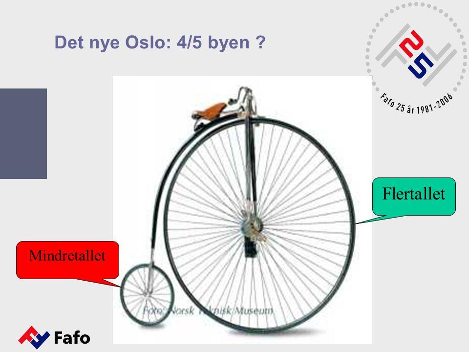 Det nye Oslo: 4/5 byen ? Flertallet Mindretallet
