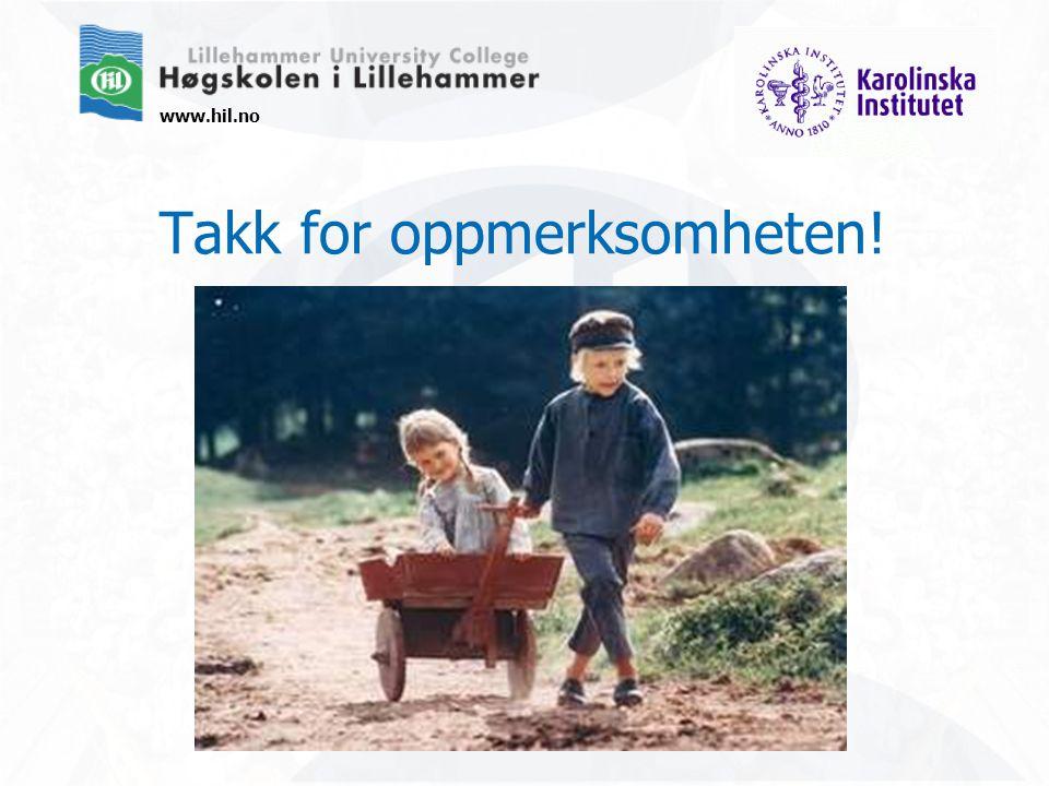 www.hil.no Takk for oppmerksomheten!