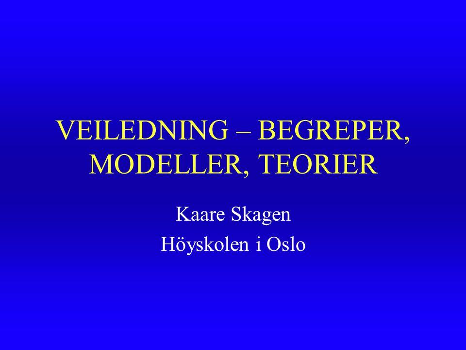 VEILEDNING – BEGREPER, MODELLER, TEORIER Kaare Skagen Höyskolen i Oslo