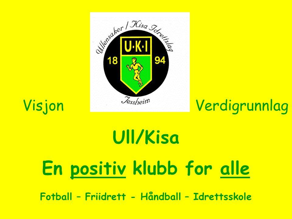 Ull/Kisa En positiv klubb for alle Fotball – Friidrett - Håndball – Idrettsskole VisjonVerdigrunnlag