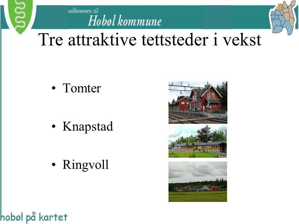 Tre attraktive tettsteder i vekst Tomter Knapstad Ringvoll