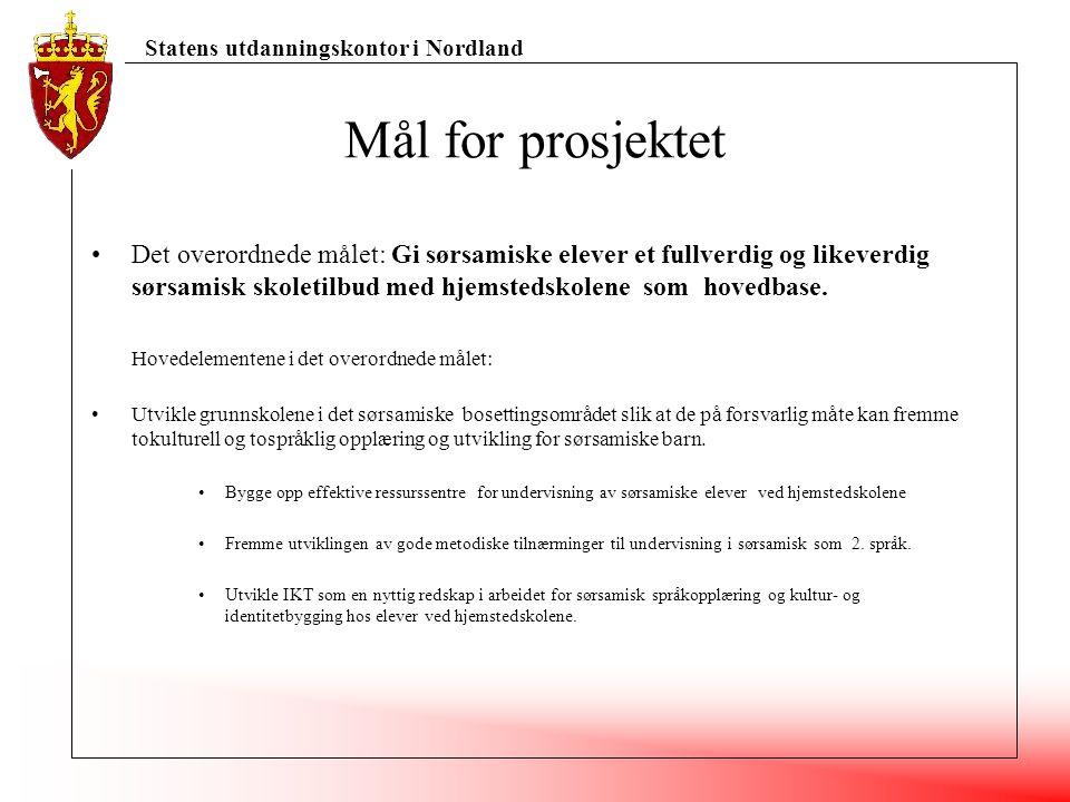 Statens utdanningskontor i Nordland Et helhetlig opplæringsopplegg IKT-basert opplæring Språkbad (hospitering-temauker/integrering) Ambulerende lærer (veileder)