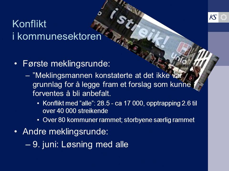 Konflikten Kommunene/fylkeskommunene i streik inviteres til dialog/ debrief /evaluering med KS den 23.