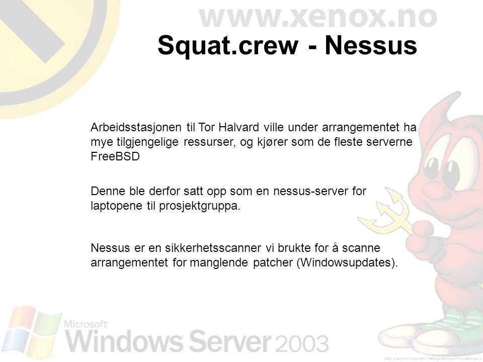 Arbeidsstasjonen til Tor Halvard ville under arrangementet ha mye tilgjengelige ressurser, og kjører som de fleste serverne FreeBSD Denne ble derfor s