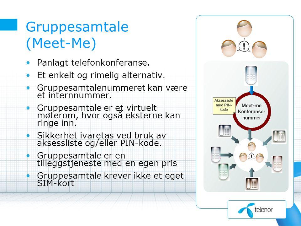Gruppesamtale (Meet-Me) Panlagt telefonkonferanse.