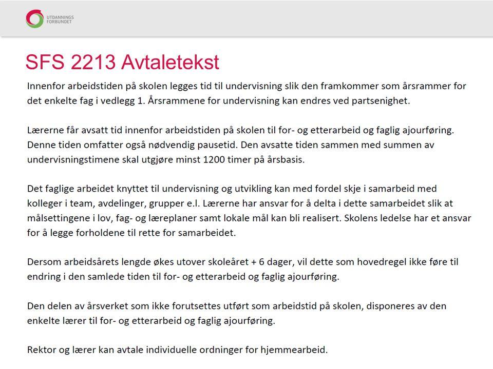 SFS 2213 Avtaletekst
