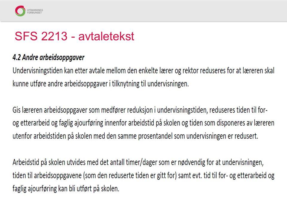 SFS 2213 - avtaletekst