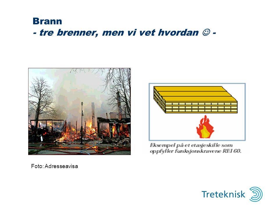 Brann - tre brenner, men vi vet hvordan - Foto: Adresseavisa