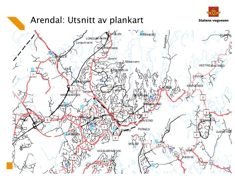 Arendal: Utsnitt av plankart 20