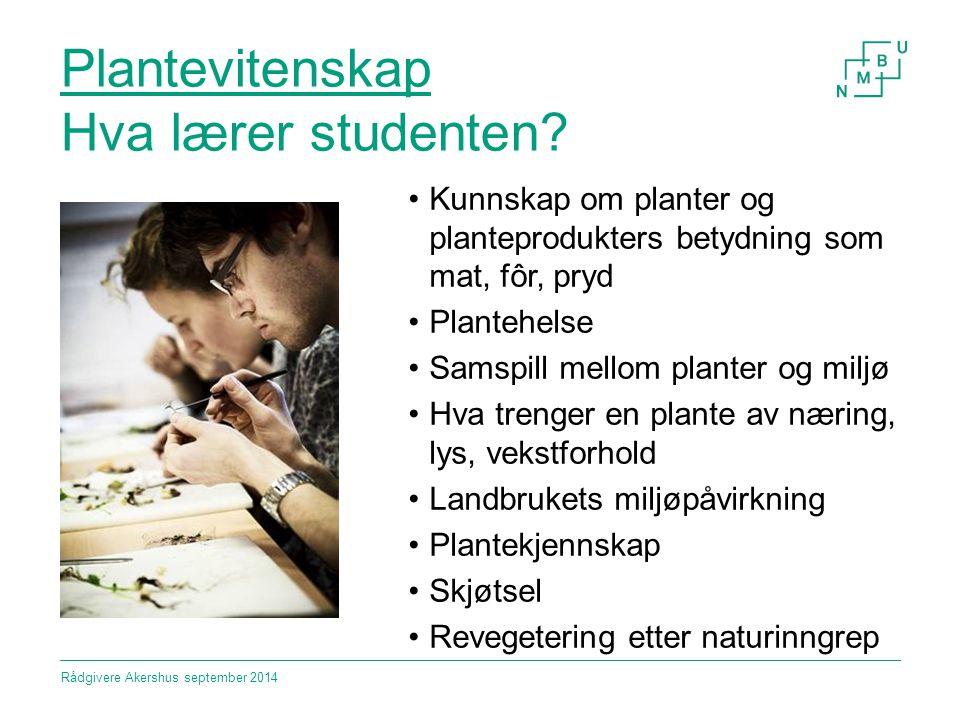 Biologi Hva lærer studenten.