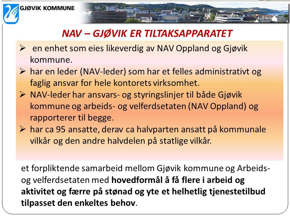et forpliktende samarbeid mellom Gjøvik kommune og Arbeids- og velferdsetaten med hovedformål å få flere i arbeid og aktivitet og færre på stønad og y