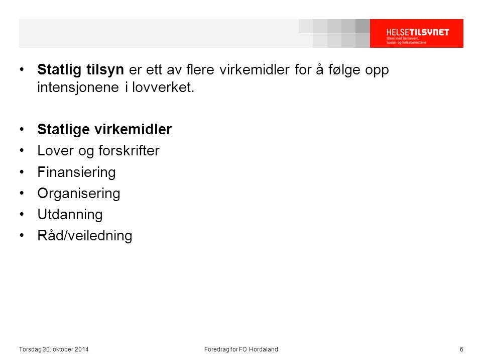 Torsdag 30. oktober 2014Foredrag for FO Hordaland37
