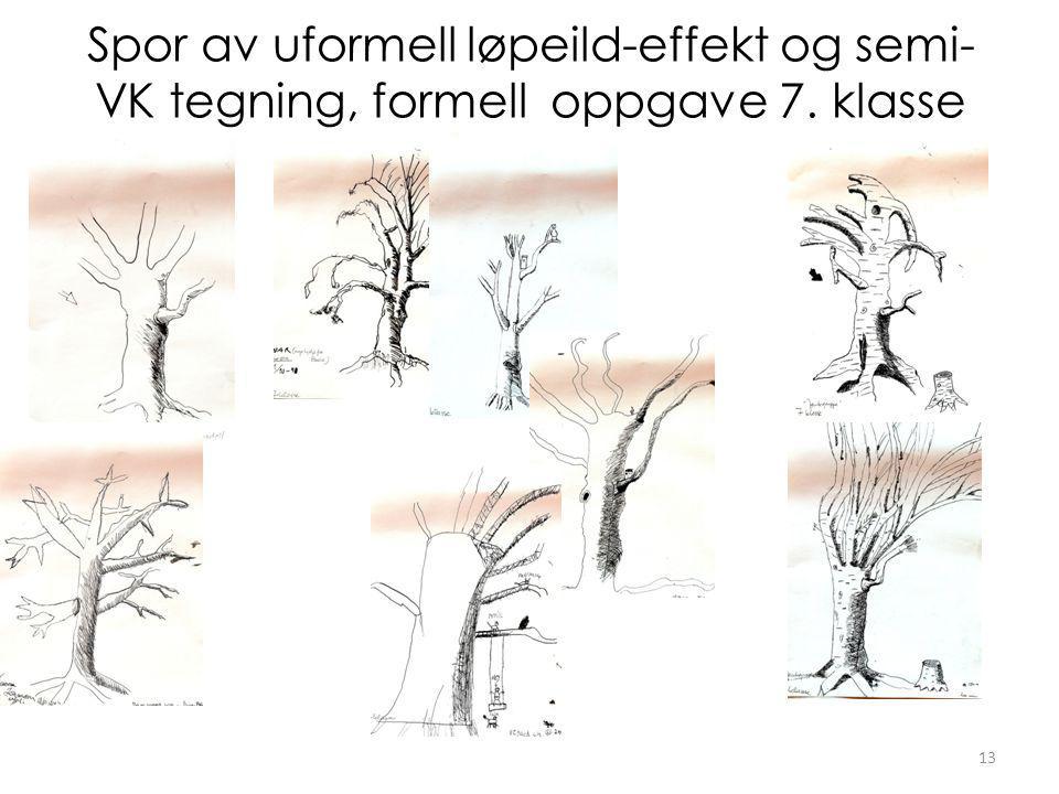 Spor av uformell løpeild-effekt og semi- VK tegning, formell oppgave 7. klasse 13