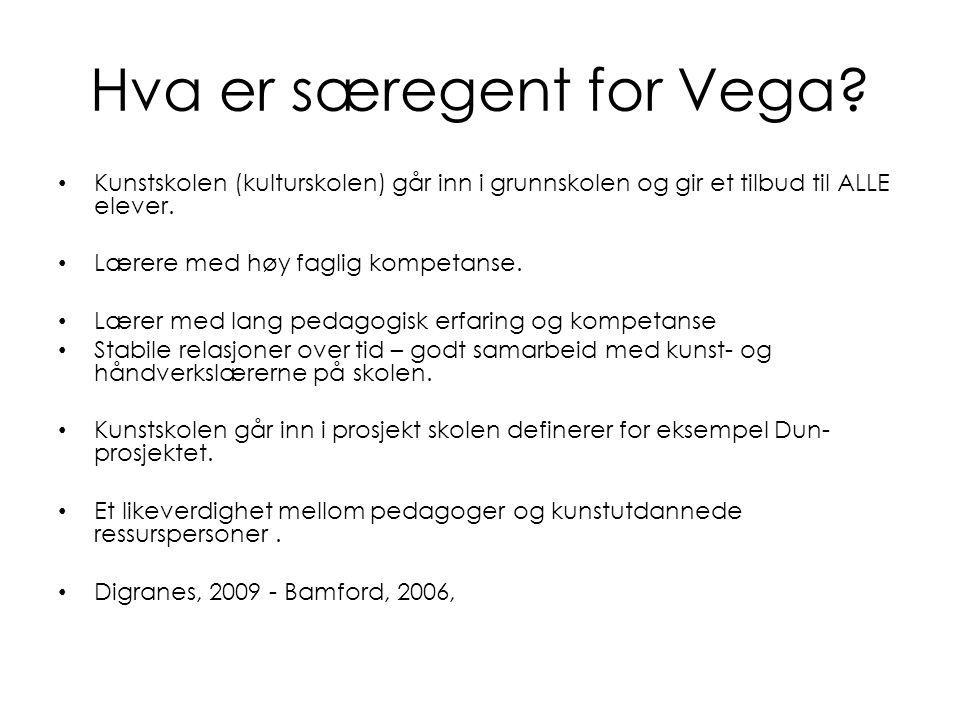 Hva er særegent for Vega.