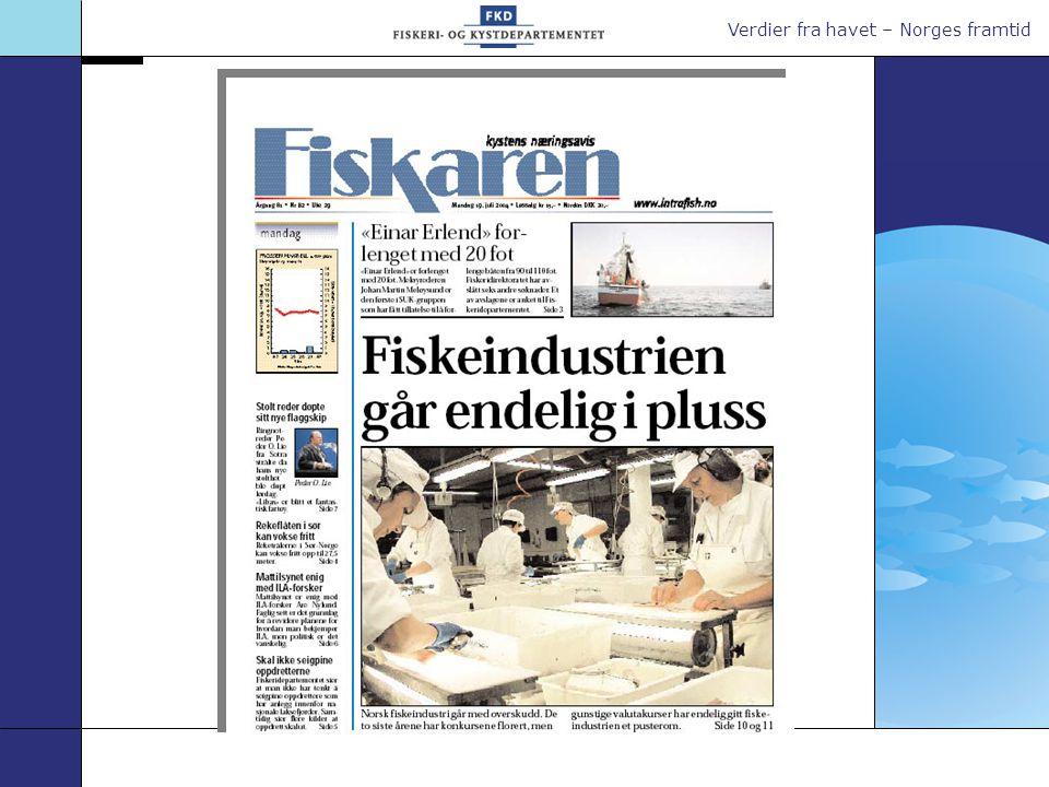 Verdier fra havet – Norges framtid Hva påvirker kvoteverdien.