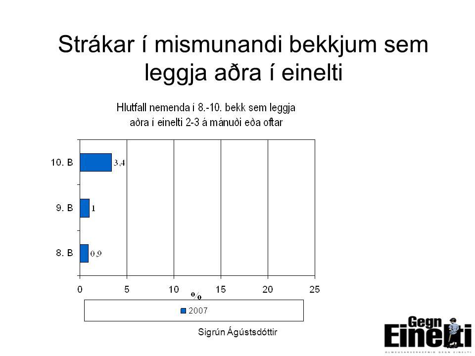 Sigrún Ágústsdóttir8 Strákar í mismunandi bekkjum sem leggja aðra í einelti