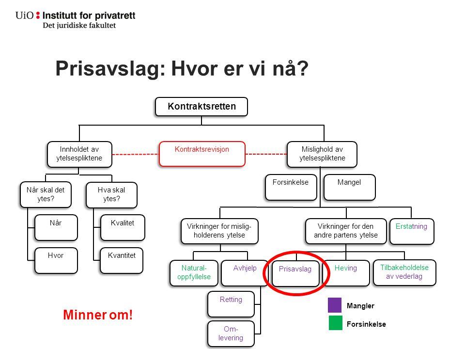 Prisavslag Prisavslagets størrelse – mangelens verdi (subjektivt (for kreditor)) Fkjl.