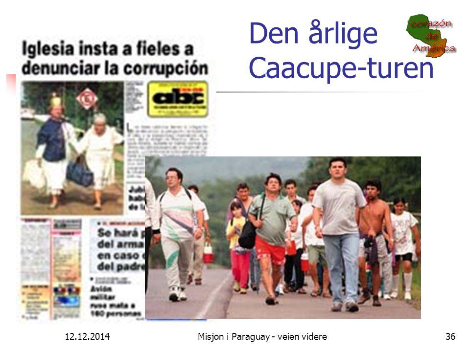 12.12.2014Misjon i Paraguay - veien videre36 Den årlige Caacupe-turen Hvor går den katolske kirken????