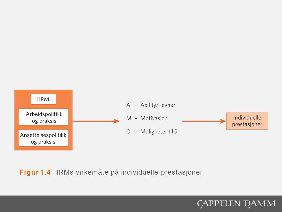 Figur 4.3 Forholdet mellom omgivelser, strategi og HRM i et «innenfra og ut»-perspektiv