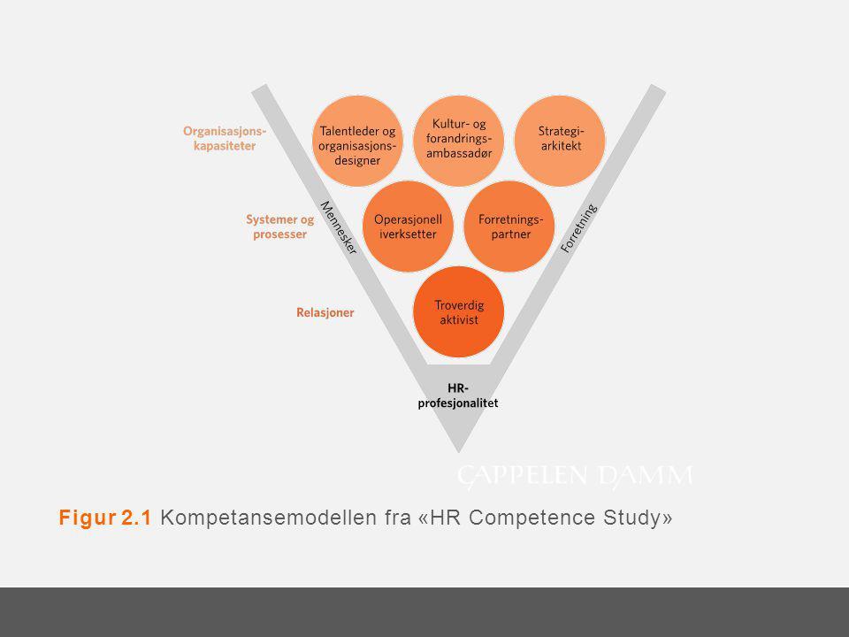 Figur 2.1 Kompetansemodellen fra «HR Competence Study»