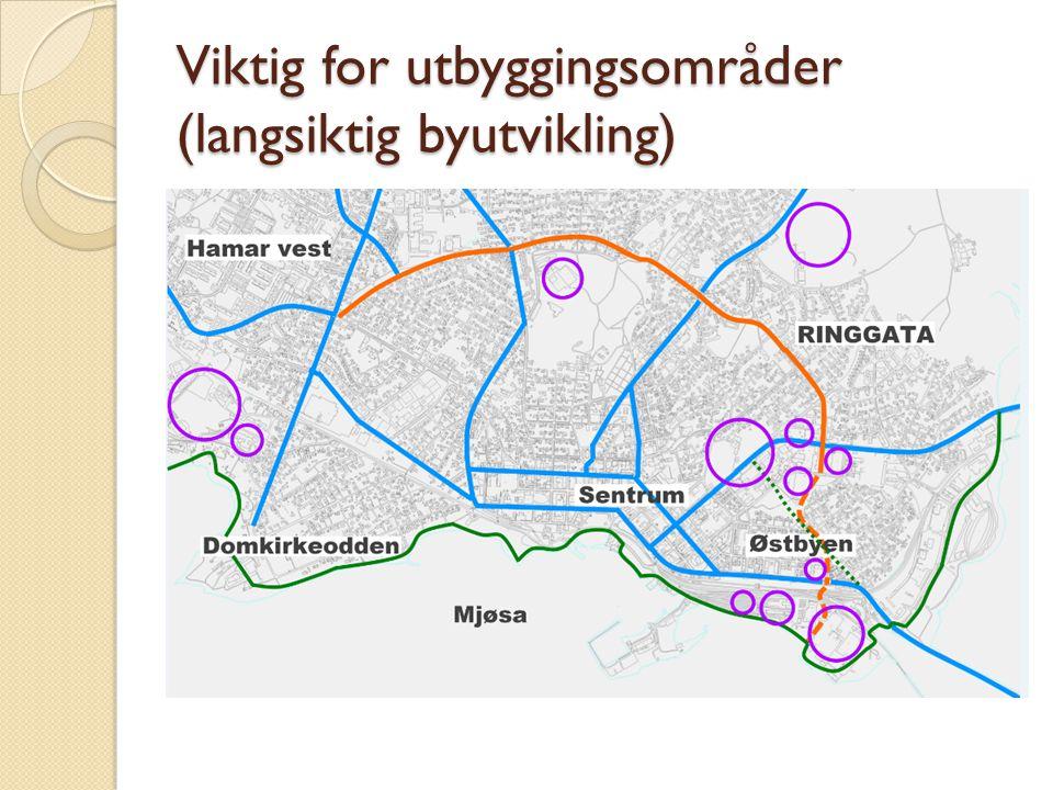 Viktig for utbyggingsområder (langsiktig byutvikling)