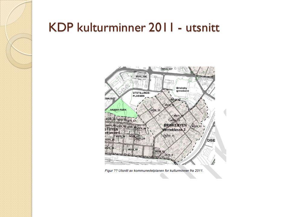 KDP kulturminner 2011 - utsnitt