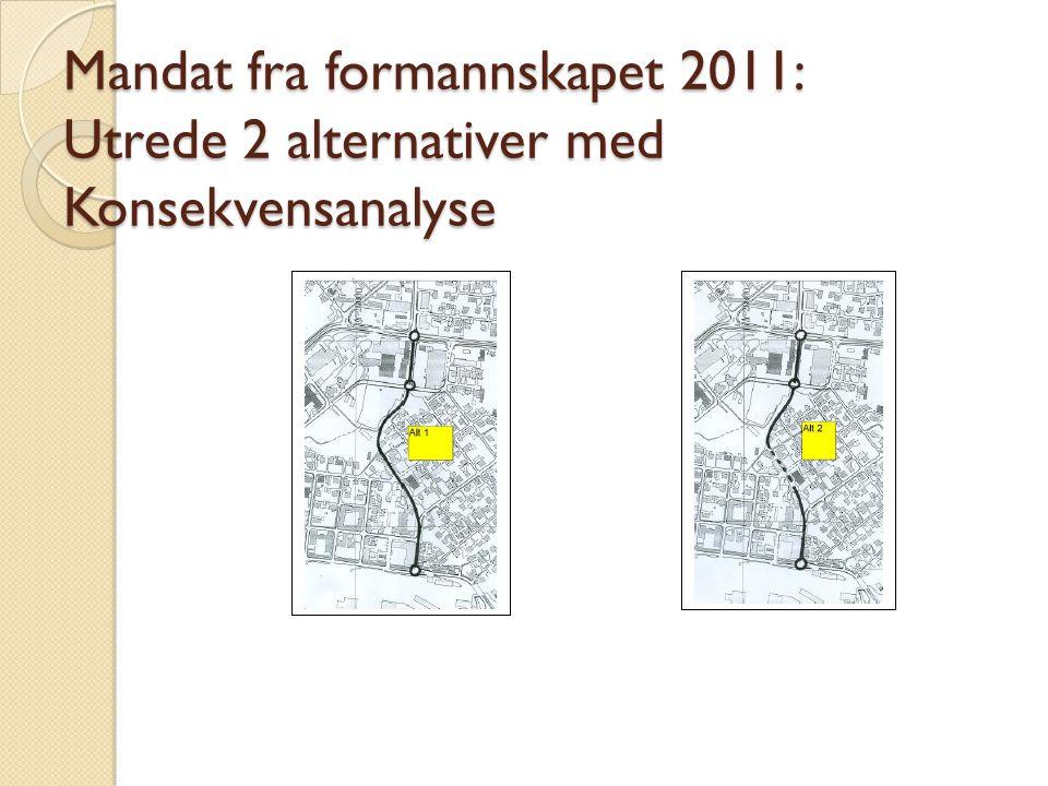 Mandat fra formannskapet 2011: Utrede 2 alternativer med Konsekvensanalyse