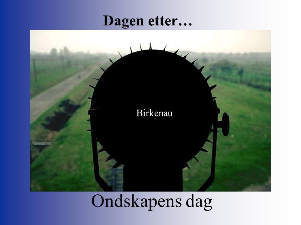 Dagen etter… Birkenau Ondskapens dag