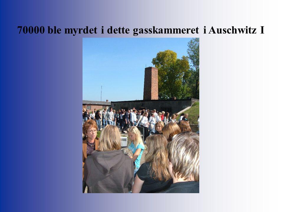 70000 ble myrdet i dette gasskammeret i Auschwitz I