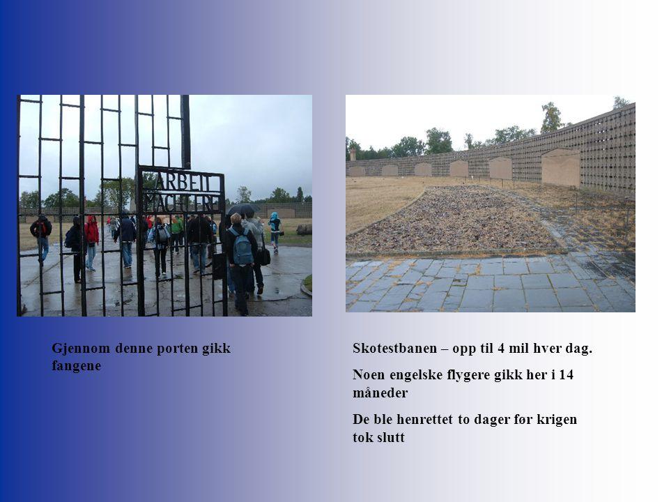 Gjennom denne porten gikk fangene Skotestbanen – opp til 4 mil hver dag.