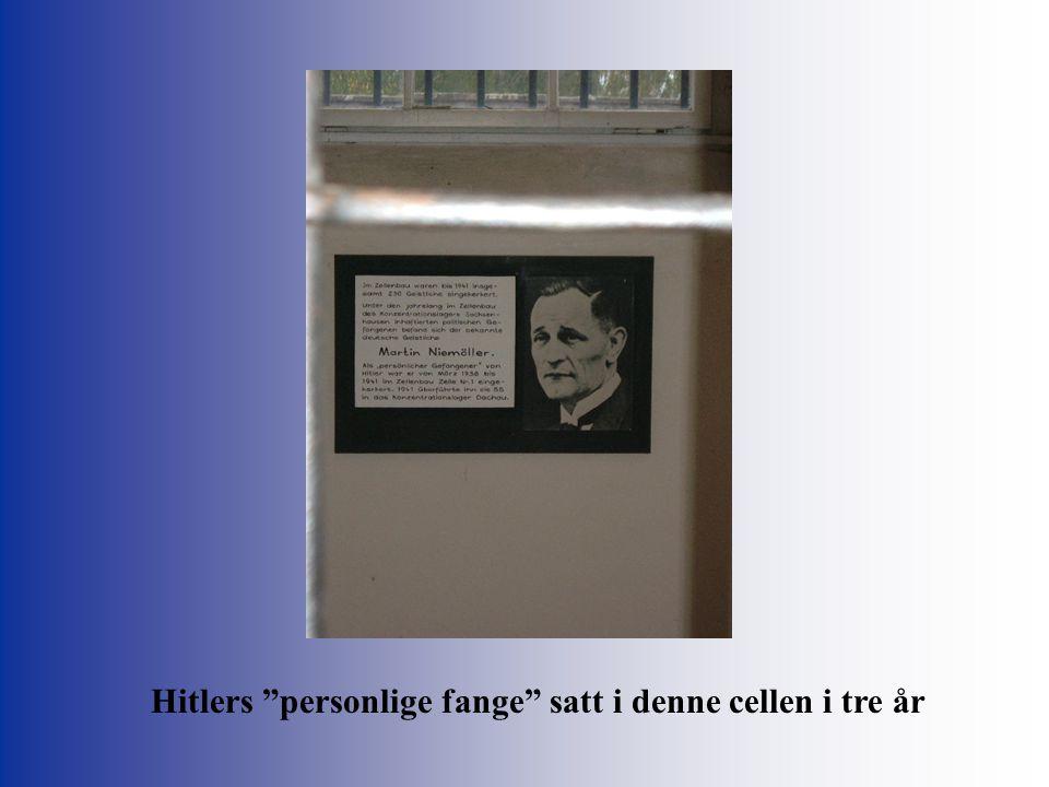 Hitlers personlige fange satt i denne cellen i tre år