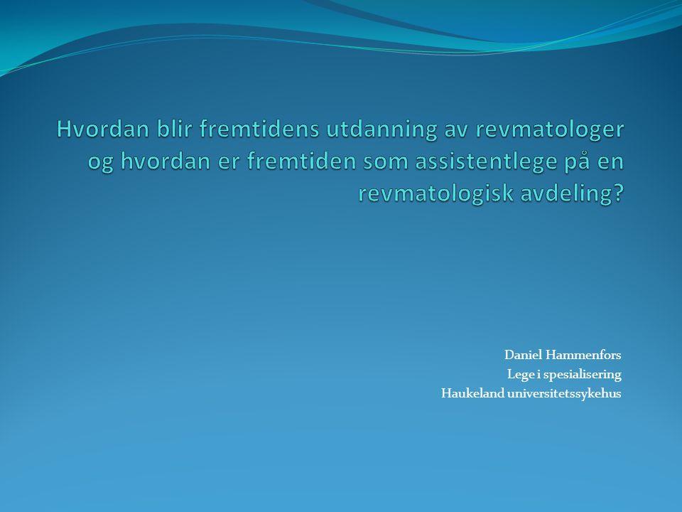 Daniel Hammenfors Lege i spesialisering Haukeland universitetssykehus
