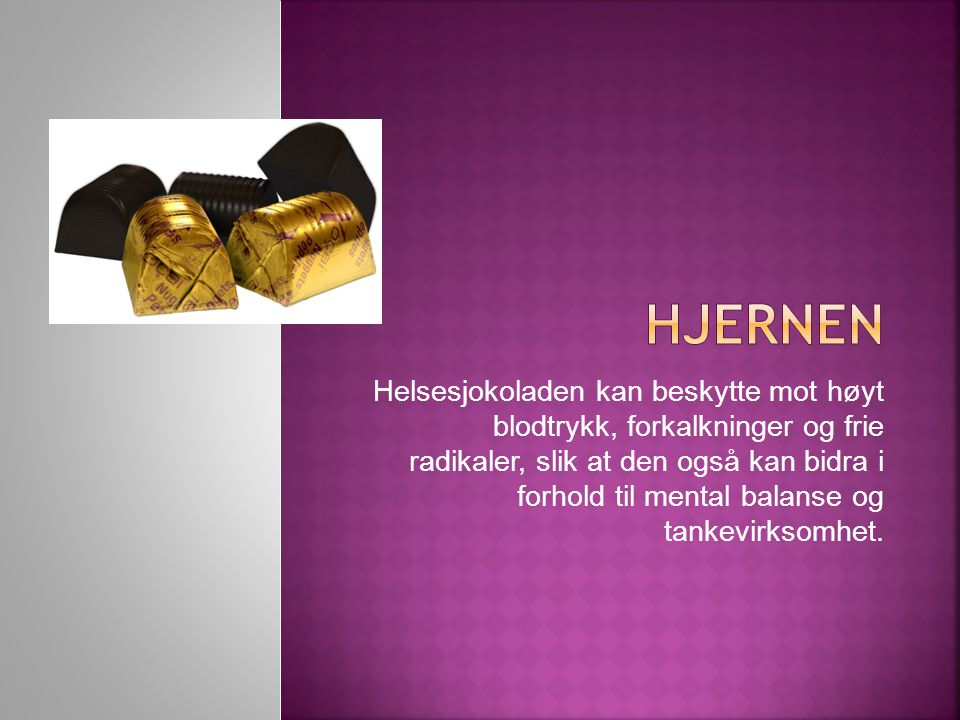 Helsesjokoladen ser ut til å hjelpe til å holde blodsukkeret stabilt, og dermed kan mange føle seg bedre.