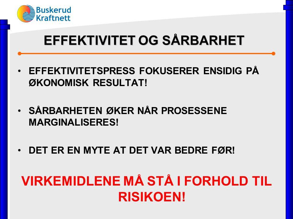 EFFEKTIVITET OG SÅRBARHET EFFEKTIVITETSPRESS FOKUSERER ENSIDIG PÅ ØKONOMISK RESULTAT.